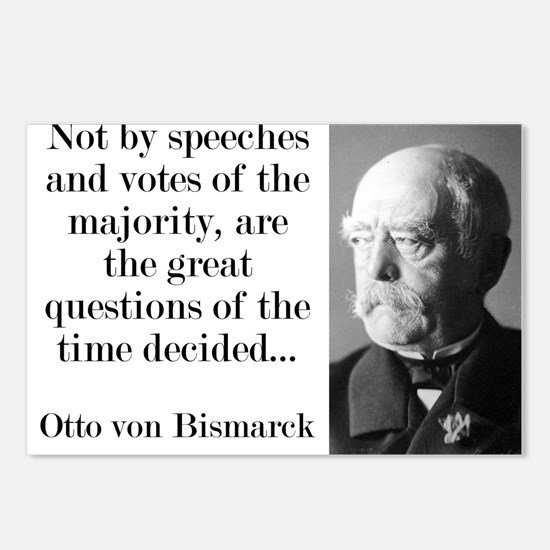 Not By Speeches And Votes - Bismarck Postcards (Pa