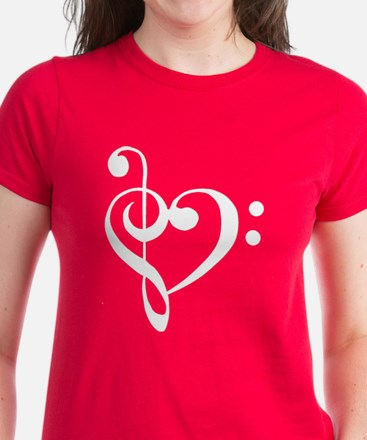 Clef Heart Women's Dark T-Shirt