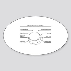 korgline trace Sticker (Oval)