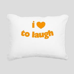 I Love To Laugh Rectangular Canvas Pillow