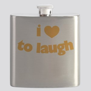 I Love To Laugh Flask