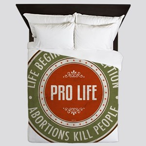 Life Begins At Conception Queen Duvet