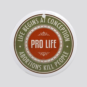 Life Begins At Conception Ornament (Round)