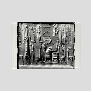 summerian tablet art illustration Rectangle Magnet