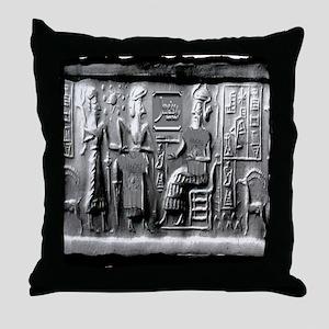 summerian tablet art illustration Throw Pillow