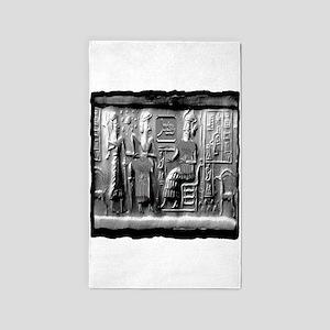 summerian tablet art illustration 3'x5' Area Rug