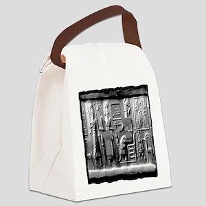 summerian tablet art illustration Canvas Lunch Bag