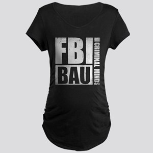 FBI BAU Criminal Minds Maternity Dark T-Shirt