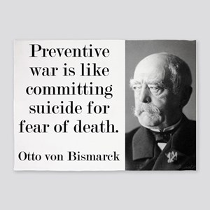 Preventative War - Bismarck 5'x7'Area Rug