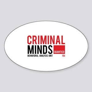 Criminal Minds Sticker (Oval)