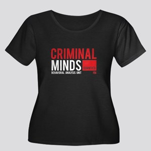 Criminal Minds Women's Plus Size Scoop Neck Dark T