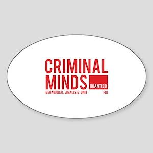 Criminal Minds Sticker (Oval)