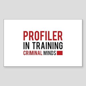 Profiler in Training Sticker (Rectangle)
