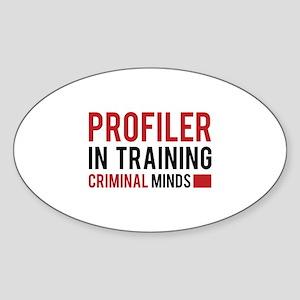 Profiler in Training Sticker (Oval)