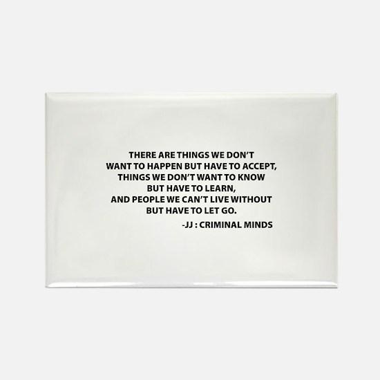 JJ Quote Criminal Minds Rectangle Magnet