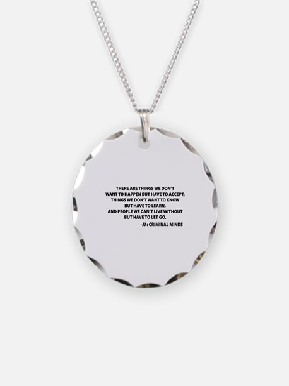 JJ Quote Criminal Minds Necklace