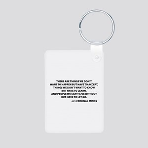 JJ Quote Criminal Minds Aluminum Photo Keychain