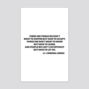JJ Quote Criminal Minds Mini Poster Print