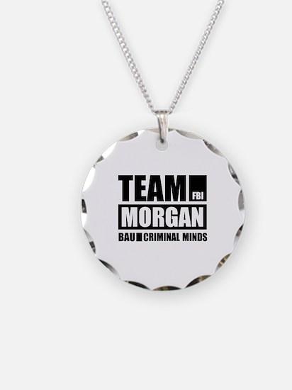 Team Morgan Necklace Circle Charm