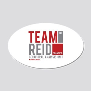 Team Reid 22x14 Oval Wall Peel