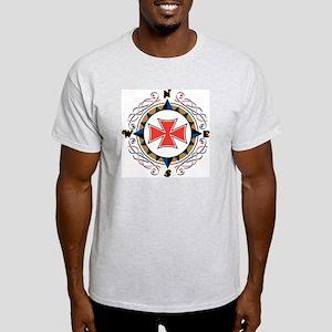 Compass Ash Grey T-Shirt