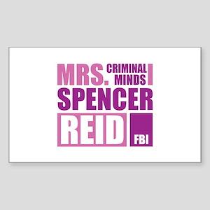 Mrs. Spencer Reid Sticker (Rectangle)