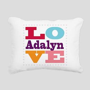 I Love Adalyn Rectangular Canvas Pillow