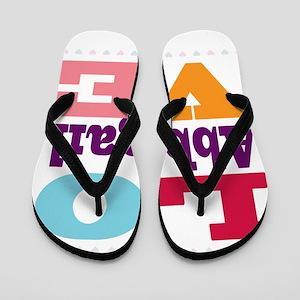 I Love Abbigail Flip Flops