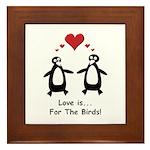 Love For Birds Penguins Framed Tile