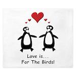 Love For Birds Penguins King Duvet