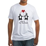 Love For Birds Penguins Fitted T-Shirt