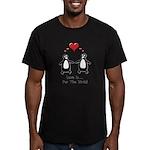 Love For Birds Penguins Men's Fitted T-Shirt (dark