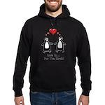 Love For Birds Penguins Hoodie (dark)
