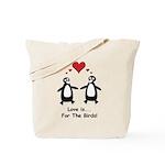 Love For Birds Penguins Tote Bag