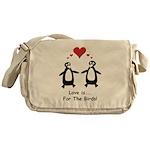 Love For Birds Penguins Messenger Bag