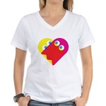 Ghost Heart Women's V-Neck T-Shirt