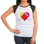 Ghost Heart Women's Cap Sleeve T-Shirt