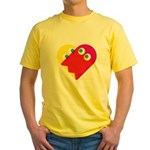 Ghost Heart Yellow T-Shirt