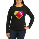 Ghost Heart Women's Long Sleeve Dark T-Shirt