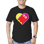 Ghost Heart Men's Fitted T-Shirt (dark)