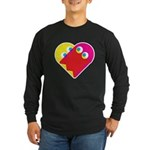 Ghost Heart Long Sleeve Dark T-Shirt