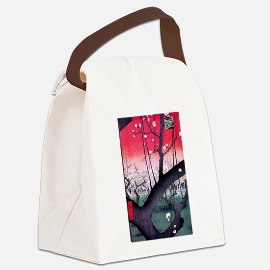 Hiroshige Kameido Canvas Lunch Bag