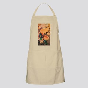 Chrysanthemums by a stream Apron