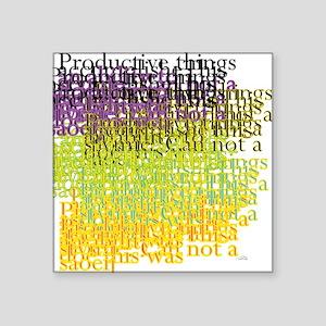 """Productive Square Sticker 3"""" x 3"""""""