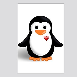 penguin with heart Postcards (Package of 8)