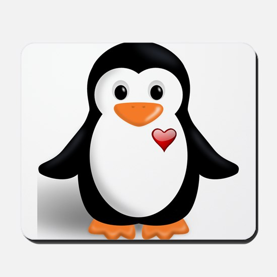 penguin with heart Mousepad