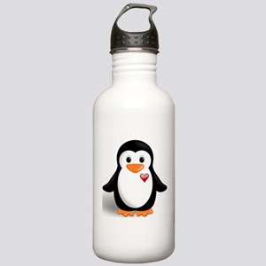 penguin with heart Stainless Water Bottle 1.0L