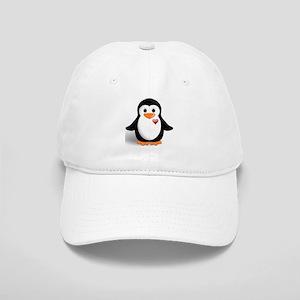 penguin with heart Cap