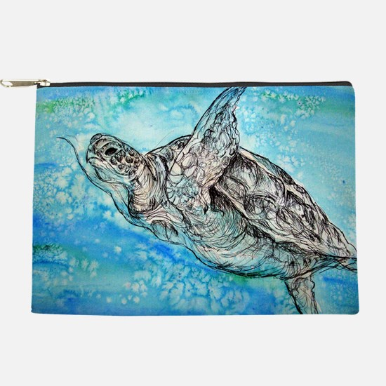 Sea Turtle! Wildlife art! Makeup Pouch