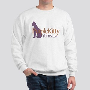 Purple Kitty Sweatshirt